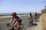The peloton including World Champion Peter Sagan (SVK) Bora-Hansgrohe in full flight after the start of Stage 4 of the La Vuelta 2018, running 162km from Velez-Malaga to Alfacar, Sierra de la Alfaguara, Andalucia, Spain. 28th August 2018.<br /> Picture: Eoin Clarke   Cyclefile<br /> <br /> <br /> All photos usage must carry mandatory copyright credit (&copy; Cyclefile   Eoin Clarke)