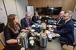 BRUSSELS - BELGIUM - 16 December 2019 -- Agriculture and Fisheries Council meeting - Presidency of Finland. -- Agriculture and Forestry experts in the delegation room of Finland (from L) Sanna-Helena Fallenius (erityisasiantuntija, EUE); Kari Valonen (erityisasiantuntija, EUE); Minna-Mari Kaila (osastopäällikkö, MMM); Osmo Rönty (erityisasiantuntija, EUE); Teppo Säkkinen (ministerin erityisavustaja). -- PHOTO: Juha ROININEN / EUP-IMAGES