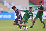 Doan Ritsu of Japan (L) competes for the ball with Ylyasov Vezirgeldi of Turkmenistan (R) during the AFC Asian Cup UAE 2019 Group F match between Japan (JPN) and Turkmenistan (TKM) at Al Nahyan Stadium on 09 January 2019 in Abu Dhabi, United Arab Emirates. Photo by Marcio Rodrigo Machado / Power Sport Images