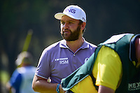 Andy Sullivan (ENG) after sinking his putt on 2 during round 1 of the World Golf Championships, Mexico, Club De Golf Chapultepec, Mexico City, Mexico. 3/2/2017.<br /> Picture: Golffile | Ken Murray<br /> <br /> <br /> All photo usage must carry mandatory copyright credit (&copy; Golffile | Ken Murray)