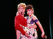 David Bowie and dancer Melissa Hurley - performing live on the Glass Spider Tour at the Pontiac Silverdome in Michigan USA - 12 Sep 1987.  Photo credit: Ken Settle/Dalle/IconicPix **UK ONLY**