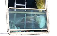 L'Aquila Stazione 07/04/2009. Nella notte tra il 5 e il 6 Aprile 2009 un forte terremoto colpisce la citta' dell'Aquila e la sua provincia. Le Ferrovie dello Stato hanno messo a disposizione 3 treni per ospitare gli sfollati. <br /> A very strong earthquake, has hit the city of Aquila, in the centre Italy and the surrounding villages. The italian railways give 3 trains to host people.<br /> L'Aquila, April, 7, 2009<br /> Photo Samantha Zucchi Insidefoto