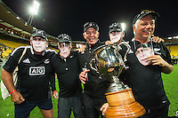 Gordon Tietjens with fans on Day Two during the 2016 HSBC Wellington Sevens at Westpac Stadium, Wellington, New Zealand on Sunday, 31 January 2016. Photo: Joseph Johnson / lintottphoto.co.nz