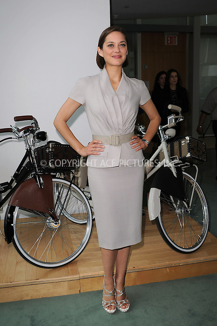 WWW.ACEPIXS.COM . . . . . ....June 2 2009, New York City....Actress Marion Cotillard at the Bike In Style challenge awards ceremony at the LVMH Tower Magic Room on June 2, 2009 in New York City. ....Please byline: KRISTIN CALLAHAN - ACEPIXS.COM.. . . . . . ..Ace Pictures, Inc:  ..(212) 243-8787 or (646) 679 0430..e-mail: picturedesk@acepixs.com..web: http://www.acepixs.com
