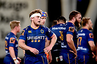 Mitchell Scott of Otago during the 2018 Mitre 10 Cup Championship rugby semifinal between Canterbury and Counties Manukau at Forsyth Barr Stadium in Dunedin, New Zealand on Saturday, 20 October 2018. Photo: Joe Allison / lintottphoto.co.nz