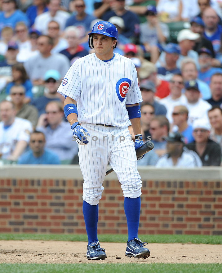 TONY CAMPANA, of the Chicago Cubs, in action during the  Cubs game against the Milwaukee Brewers at Wrigley Field in Chicago, Illinois. The Cubs beat the Brewers 12-7.