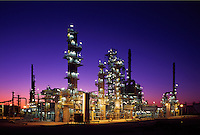 Oil refinery.  Unit of modern oil refinery.
