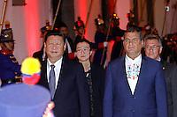 QUITO, EQUADOR, 18.11.2016 - EQUADOR-CHINA - Presidente do Equador, Rafael Correa, juntamente com o Presidente da Repulica da China, Xi Jinping, durante a inauguração do Projeto Hidroelétrico Coca Codo e o início da construção do Hospital Chone na cidade de Quito no Equador sexta-feira, 18 (Foto: Javier Cano/ACGEcuador/Brazil Photo Press)