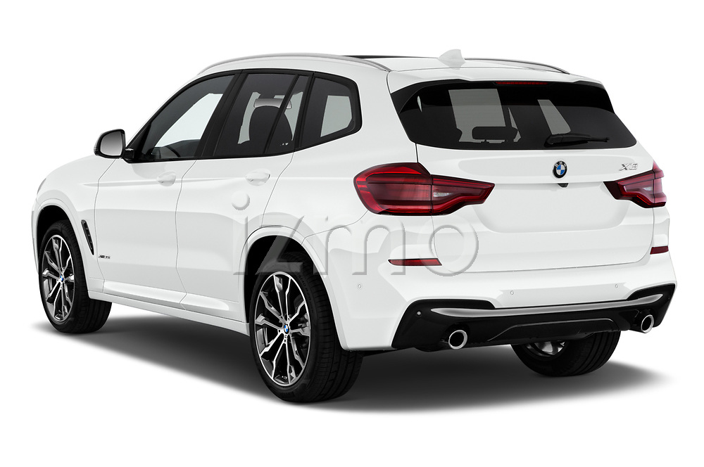 Car pictures of rear three quarter view of a 2018 BMW X3 M Sport 5 Door SUV angular rear