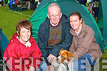 TRAVELLED: Travelled all the way from Castlegregory with their Brittany Spaniel to enter him in the International Dog Show at the Riocht Athletic Grounds Castleislan were: Christina O'Hara,Michael and Aine O'Keeffe..