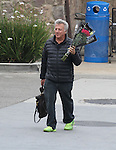 June 7th 2013  Exclusive <br /> <br /> Dustin  &amp; Lisa Hoffman  shopping in Malibu California. Dustin was laughing &amp; smiling while carrying his girls purse and flowers red roses walking in lime green shoes at Pavilions super market. <br /> <br /> AbilityFilms@yahoo.com<br /> 805 427 3519 <br /> www.AbilityFilms.com