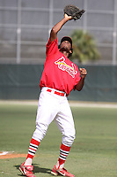 August 22, 2009:  GCL Cardinals First Baseman David Washington during a game at Roger Dean Stadium Complex in Jupiter, FL.  The GCL Cardinals are the Short-Season Rookie League affiliate of the St. Louis Cardinals.  Photo By Stacy Grant/Four Seam Images