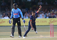 Ravi Bopara in bowling action for Essex during Essex Eagles vs Sussex Sharks, Vitality Blast T20 Cricket at The Cloudfm County Ground on 4th July 2018