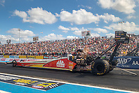 Oct 15, 2016; Ennis, TX, USA; NHRA top fuel driver Doug Kalitta during qualifying for the Fall Nationals at Texas Motorplex. Mandatory Credit: Mark J. Rebilas-USA TODAY Sports