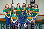 Kerry LGFA Ladies Football launched their football academy in John Mitchels on Thursday evening.<br /> Seated l to r: Sarah Lynch (Listowel Emmets), Rory Kilgallan and Bronagh Kelliher (Austin Stacks).<br /> Standing l to r: R&oacute;ise O&rsquo;Donnell (Austin Stacks), Shona Griffin (Ballymac), Clodagh Murray (Austin Stacks), Lauren Smellen (John Mitchels), Bronagh Kelliher (Austin Stacks) and Filicity O&rsquo;Shea (Ballymac).