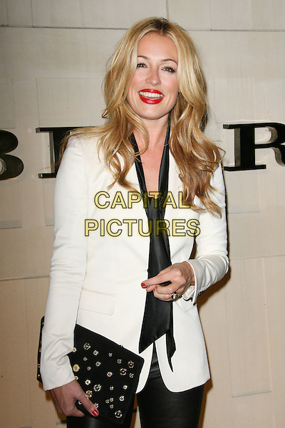 "Cat Deeley.""Burberry Body"" Burberry Fragrance Launch Party held at Burberry Beverly Hills, Los Angeles, California, USA..26th October 2011.half length white top blazer scarf black pussybow red lipstick smiling .CAP/ADM.©AdMedia/Capital Pictures."