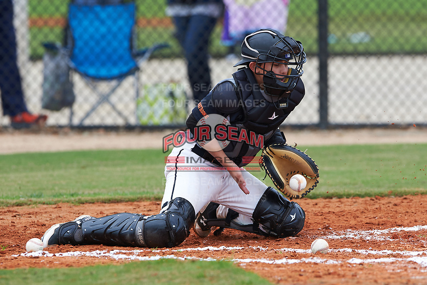Cashel Dugger (2) of Morrison, Colorado during the Baseball Factory All-America Pre-Season Rookie Tournament, powered by Under Armour, on January 13, 2018 at Lake Myrtle Sports Complex in Auburndale, Florida.  (Michael Johnson/Four Seam Images)