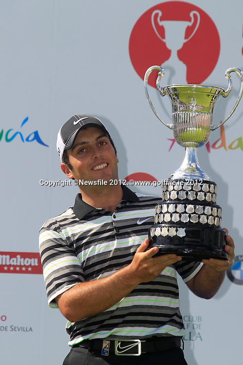 Francesco Molinari (ITA) wins Sunday's Final Round of the Open de Espana at Real Club de Golf de Sevilla, Seville, Spain, 6th May 2012 (Photo Eoin Clarke/www.golffile.ie)