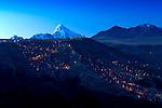 Mt Huayna Potosi_Sunset_Dusk_El Alto_Bolivia