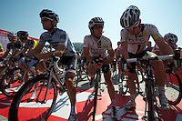 Starting line of the 2011 Tour of Beijing Stage 2