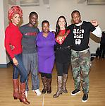 Michelle Williams, Adesola Osakalumi, Melanie Marshall, Maija Garci, Duain Richmond  rehearsing for the touring company of 'FELA!'  at the Pearl Studios in New York City on 1/23/2013