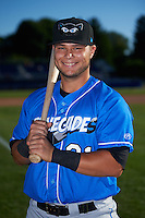 Hudson Valley Renegades Joe Olson (31) poses for a photo before a game against the Batavia Muckdogs on August 2, 2016 at Dwyer Stadium in Batavia, New York.  Batavia defeated Hudson Valley 2-1.  (Mike Janes/Four Seam Images)