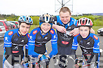 Sliabh Luachra cycling team Cierán O'Sullivan Gneeveguillla, David O'Connor Knocknagree, Noel Twomey Cullen and Neil O'riordan Gneeveguilla who competed  in the Barraduff 80 km cycle in aid of Ballyduff NS on Sunday.