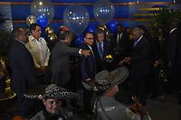 SANTO DOMINGO, República Dominicana. - A ritmo de merengue una multitud de personas acudió a las afueras de la cede de FUNGLODE para dar las respectivas felicitaciones de cumpleaños al ex presidente Leonel Fernández, que en esta ocasión celebra sus 65.<br /> <br /> © Edgar Hernández<br /> 26/12/2018
