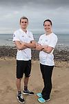 Team GB Rio Olympics marathon swimming team.<br /> Jack Burnell &amp; Keri Anne Payne.<br /> Langland Bay<br /> 26.07.16<br /> &copy;Steve Pope Sportingwales
