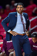 College Park, MD - NOV 16, 2016: Maryland Eastern Shore Lady Hawks head coach Fred Batchelor on the sidelines during game between Maryland and Maryland Eastern Shore Lady Hawks at XFINITY Center in College Park, MD. The Terps defeated the Lady Hawks 106-61. (Photo by Phil Peters/Media Images International)