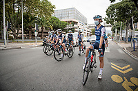 Team Trek-Segafredo on their way to the start / pre-race<br /> <br /> 7th La Course by Tour de France 2020 <br /> 1 day race from Nice to Nice (96km)<br /> <br /> ©kramon