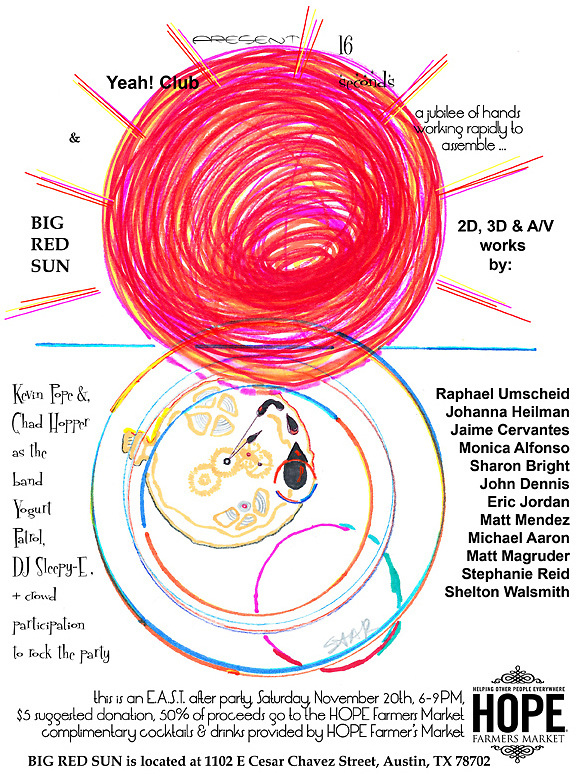 art Show / benefit flyer illustration and design using InDesign