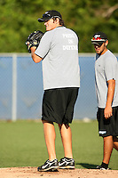 September 29, 2009:  Pitcher Stephen C Jenkins - Chad Jenkins - of the Toronto Blue Jays system working out during instructional league camp day at Blue Jays Training Complex in Dunedin, FL.  Photo By David Stoner/Four Seam Images