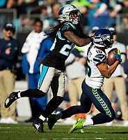 Photography of the Carolina Panthers v. The Seattle Seahawks, during their Sunday afternoon NFL game at Bank of America Stadium in Charlotte, NC.<br /> <br /> Charlotte Photographer- PatrickSchneiderPhoto.com