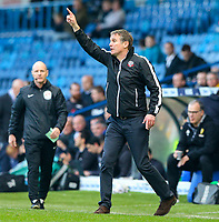 Bolton Wanderers manager Phil Parkinson shouts instructions to his team from the technical area<br /> <br /> Photographer Alex Dodd/CameraSport<br /> <br /> The EFL Sky Bet Championship - Leeds United v Bolton Wanderers - Saturday 23rd February 2019 - Elland Road - Leeds<br /> <br /> World Copyright © 2019 CameraSport. All rights reserved. 43 Linden Ave. Countesthorpe. Leicester. England. LE8 5PG - Tel: +44 (0) 116 277 4147 - admin@camerasport.com - www.camerasport.com