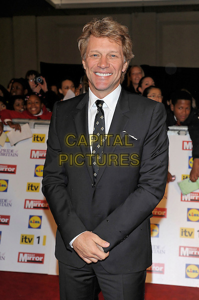 Jon Bon Jovi.Pride Of Britain awards at Grosvenor House, London, England..29th October 2012.half length black suit white shirt tie  .CAP/PL.©Phil Loftus/Capital Pictures.