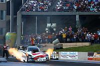 Jul. 19, 2013; Morrison, CO, USA: NHRA funny car driver Cruz Pedregon during qualifying for the Mile High Nationals at Bandimere Speedway. Mandatory Credit: Mark J. Rebilas-