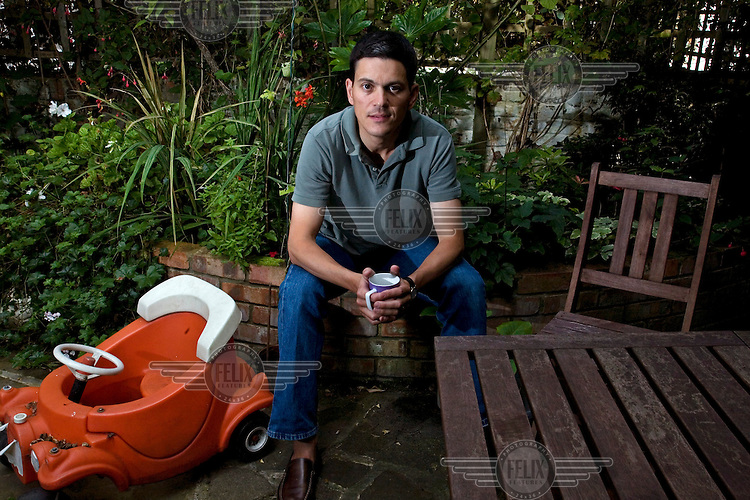 David Miliband, Secretary of State for Foreign and Commonwealth Affairs, and Member of Parliament for South Shields, Tyne and Wear. at his home in London.