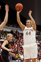 STANFORD, CA - FEBRUARY 7:  Joslyn Tinkle of the Stanford Cardinal during Stanford's 77-39 win over USC on February 7, 2010 at Maples Pavilion in Stanford, California.