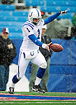 3 January 2010: Indianapolis Colts' punter Pat McAfee warms up prior to facing the Buffalo Bills on a cold, snowy, final game of the season at Ralph Wilson Stadium in Orchard Park, New York. The Bills defeated the Colts 30-7. Mandatory Credit: Ed Wolfstein Photo