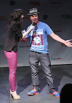 Lena Hall with JT Harding introduce 'Somewhere with You'  in a special preview of the 2014 New York Musical Theatre Festival (NYMF) at Ford Foundation Studio Theatre in The Pershing Square Signature Center on July 2, 2014 in New York City.