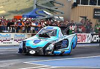 Jul. 19, 2013; Morrison, CO, USA: NHRA funny car driver Jeff Diehl during qualifying for the Mile High Nationals at Bandimere Speedway. Mandatory Credit: Mark J. Rebilas-