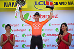 Michael Schär (SUI) CCC Team wins the day's combativity prize at the end of Stage 4 of the 2019 Tour de France running 213.5km from Reims to Nancy, France. 9th July 2019.<br /> Picture: ASO/Pauline Ballet | Cyclefile<br /> All photos usage must carry mandatory copyright credit (© Cyclefile | ASO/Pauline Ballet)