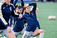Boston, MA - Sunday May 07, 2017: Yuri Kawamura prior to warmups before a regular season National Women's Soccer League (NWSL) match between the Boston Breakers and the North Carolina Courage at Jordan Field.
