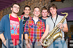 Performing at the Hear The Noise Promotions launch showcase at the Greyhound Bar, Tralee on Friday, were, from left: Conor Higgins, PJ Galvn, Danny O'Shea, Kenneth Costello and Tim Farrell of ''Proclamation!'' from Tralee.