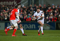 Friday 3rd January 2020 | Ulster Rugby vs Munster Rugby<br /> <br /> Stuart McCloskey during the PRO14 Round 10 inter-pro clash between Ulster and Munster at Kingspan Stadium, Ravenhill Park, Belfast, Northern Ireland.  Photo by John Dickson / DICKSONDIGITAL