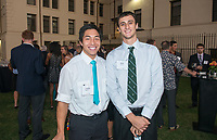 """Inaugural Hall of Fame Dinner<br /> For the first time in its 125-year history, Occidental College celebrates its rich athletic tradition of Olympic champs and prominent athletes and coaches with the induction of eight Oxy sports legends into the Occidental College Athletics Hall of Fame. Dean Cromwell '1902, Bob Gutowski '58, Jack Kemp '57, Sammy Lee '43, Bob McMillen '52, Bill Redell '64, Arthur """"Bud"""" Teachout '27, and Pat Yeomans '38 will be recognized in the inaugural class, Oct. 26, 2012 at Patterson Field.<br /> (Photo by Marc Campos, Occidental College Photographer)"""