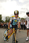 Lance Armstrong (USA) Astana before the start Stage 18 of the Tour de France 2009 an individual time trial running 40.5km around Lake Annecy, France. 23rd July 2009 (Photo by Eoin Clarke/NEWSFILE)