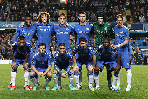 07.11.2012. London, England. ..Chelsea Team before kick off the UEFA Champions League Group E game between Chelsea and Shakhtar Donetsk from Stamford Bridge..