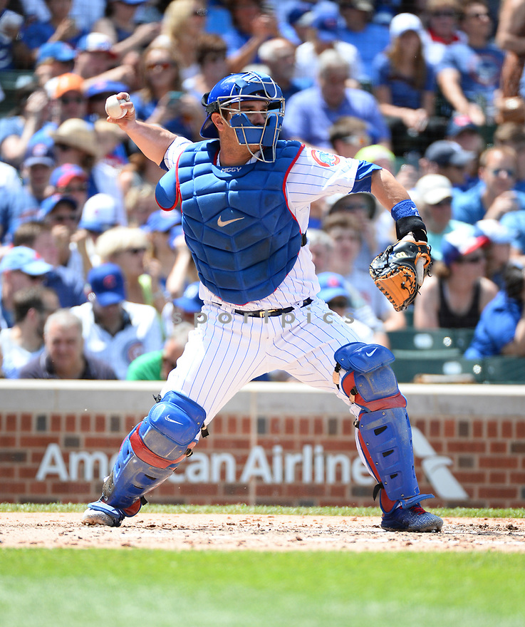 Chicago Cubs Miguel Montero (47) during a game against the Arizona Diamondbacks on June 5, 2016 at Wrigley Field in Chicago, IL. The Diamondbacks beat the Cubs 3-2.